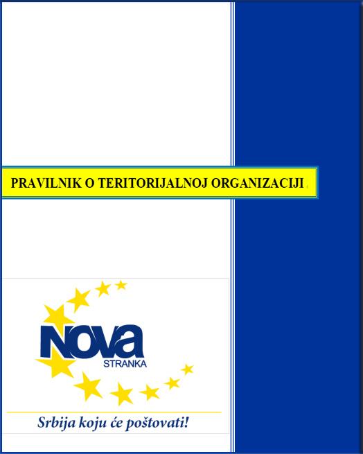Dokument - Pravilnik o teritorijalnoj organizaciji