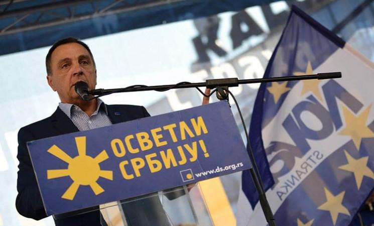 """Demokratska opozicija pod parolom """"Osvetli Srbiju"""" na mitingu u Nišu"""