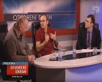 Vladimir Pavićević i Dejan Ilić u emisiji Otvoreni ekran na TV Kanal 9