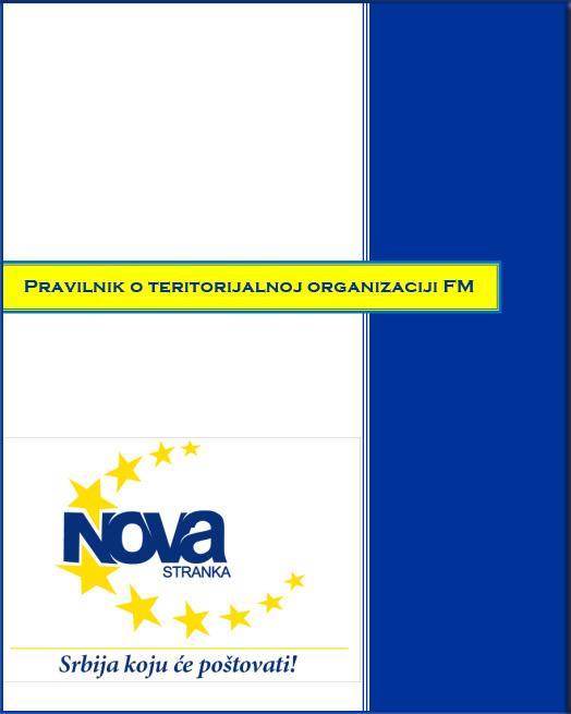 Forum mladih - Pravilnik o teritorijalnoj organizaciji