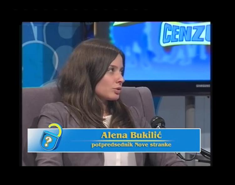 Alena Bukilić u emisiji Bez cenzure na KTV