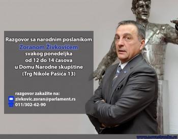 Razgovor sa poslanikom Živkovićem svakog ponedeljka