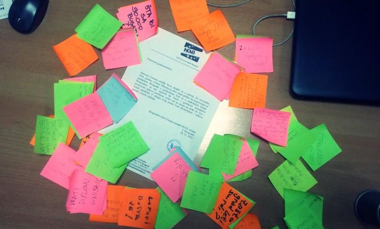 Predato pismo sa porukama Beograđana za Sinišu Malog