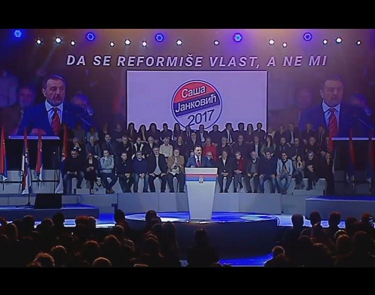 Živković: Čovek sa stavom - to je Saša Janković! [VIDEO]